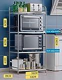 MJK Multifunktions-Küchenmöbel-Rack , Stehendes Edelstahl-Ablagegestell, Küche mit Eckregal/Mikrowellen-Rack,Breite-39 cm