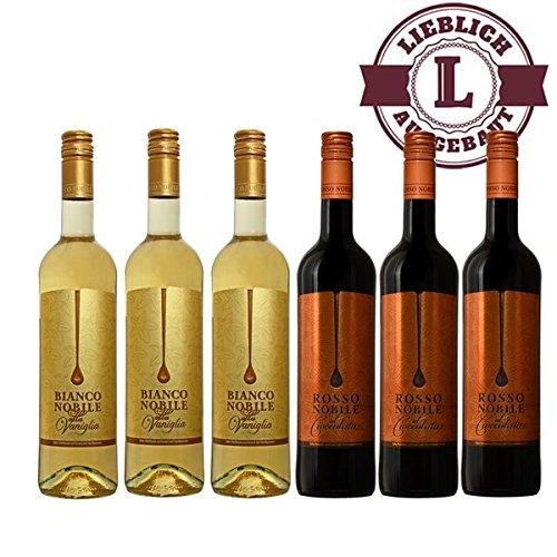 Bianco (3) et Rosso (3) Noblile alla Vaniglia et Cioccololata (6x0,75l))