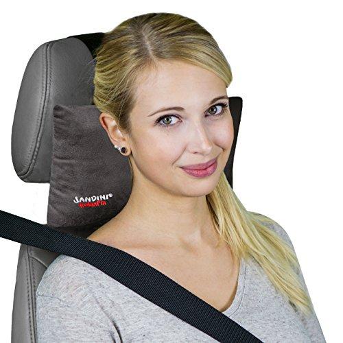 Preisvergleich Produktbild Sandini RelaxFix® – Nackenkissen für Autositz/Nackenstützkissen/Autostützkissen – VIELE FARBEN – Einfache Anbringung an der Kopfstütze – Sorgt für entspanntes Anlehnen/Zurücklehnen im Auto