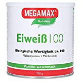 Megamax Eiweiss Vanille. Molkenprotein + Milcheiweiß Eiweiß Protein mit Biologischer Wertigkeit ca. 100. Für Muskelaufbau und Diaet. Inhalt: 750 g