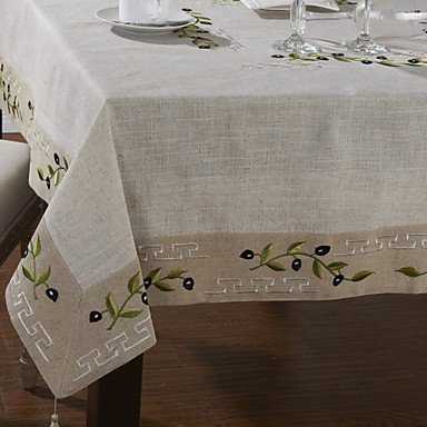 Erica Classic lino bianco Olive Branch tovaglie , 110cm x
