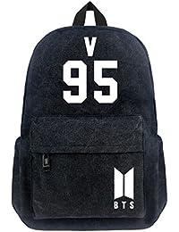 87fea3780 Mochila de lona Meridiaga Kpop BTS Bangtan Boys para adolescentes y niños,  multiuso, para viajes y escuela, estilo…