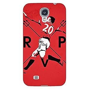 Jugaaduu Manchester United Robin Van Persie Back Cover Case For Samsung Galaxy S4 Mini I9192