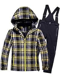 Keamallltd Kids Traje de esquí Chaqueta a Prueba de Viento Pantalón a Prueba  de Agua Niños Niñas Esquí Snowboard Escudo súper cálido con… e0bd5d7dc55