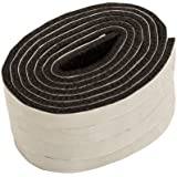 Bandas autoadhesivos, longitud aprox. 1,47 m, anchura 1,27 cm, espesor 0,5 cm, fieltro extra durable, 4 unidades, marrón; protección para patas de muebles, sillas o mesas - Made in Canadá