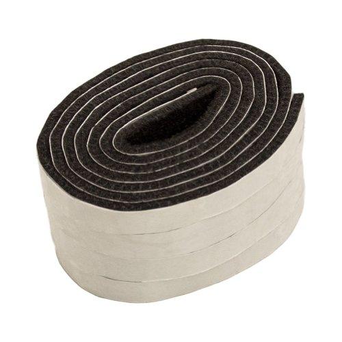 Filzband selbstklebend, ca. 1,47 m lang, 1,27 cm breit, 0,5 cm dick, extra strapazierfähiger Filz, 4 Stück, braun; als Bodenschutz für Möbelfüße, Tischbeine, Stuhlbeine, Stühle - Made in Canada (Filzband)