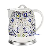 Hausgeräte Keramik Wasserkocher elektrisch Einzigartiges Design 5L Blau Weiß 1200W Automatische Abschaltung