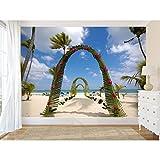 Startonight Papel Pintado Playa Exotica - Fotomurales Paisaje XXL 256 x 366 cm