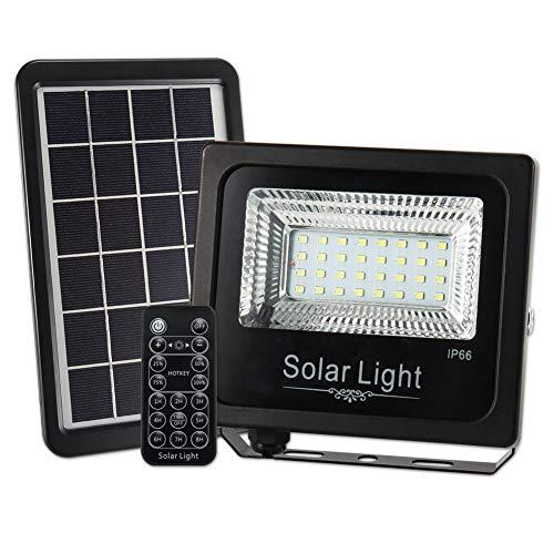 Soul Item LED Foco Exterior Foco Solar Floodlight Mando a Distancia se Enciende Impermeable