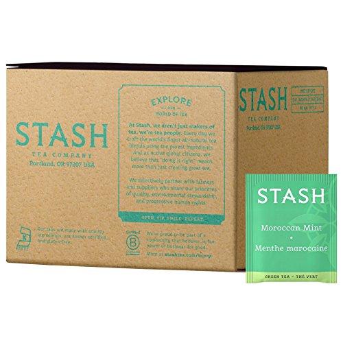 Stash Tea Moroccan Mint Green Tea, 100 Count Box of Tea Bags in Foil