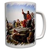 Die Bergpredigt Jesus-Christus Kirche Bibel Gemälde oratio montana Jesus von Nazaret Carl Heinrich Bloch Bild neues Testament Christi- Tasse Becher Kaffee #7372