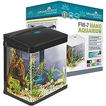 Todos Estanque Soluciones Nano Fish Tank Acuario/LED luces, pequeño, 7L), color negro