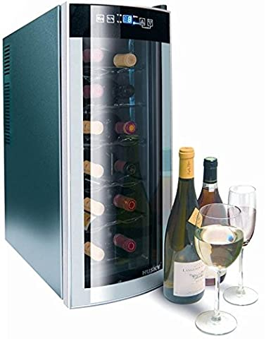 Husky Reflections Slimline Wine Cooler HUS-HN6, 12 Bottle Capacity