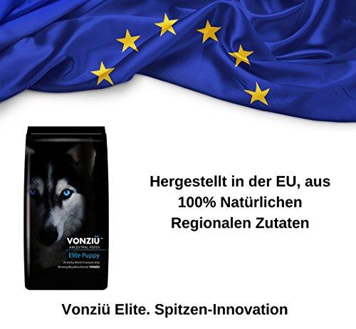 Vonziu Elite Premium Hundefutter / Welpenfutter – Hochenergetische Tiernahrung – Für kleine & große Hunderassen – Hypoallergen – Reich an Fischöl / Vitaminen / Mineralien – 100% Bio-Zutaten - 6