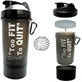 5 O'Clock Sports Alfa Mamba Carbon-Fiber Shaker Bottle, 600ml (Black)