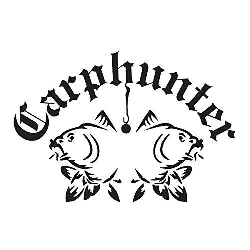 Wadeco Karpfen Fisch Carphunter 2 Wandtattoo Wandsticker Wandaufkleber 35 Farben verschiedene Größen, 160cm x 109cm, braun