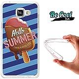 BeCool® Fun - Coque Etui Housse en GEL Flex Silicone TPU Samsung Galaxy A5 2016 , protège et s'adapte a la perfection a ton Smartphone et avec notre design exclusif.Glaces pour l'été