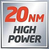Einhell Akku Bohrschrauber TC-CD 12 Li (Lithium Ionen, 12 V, 1,3 Ah, 2 Gang, 20 Nm, abnehmbares Bohrfutter, LED-Licht, Ladegerät, Koffer) - 14