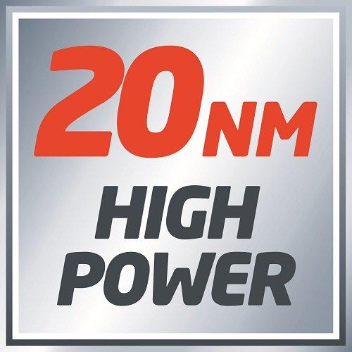 Einhell Akku Bohrschrauber TC-CD, 12 V, 1,3 Ah, 2 Gang, 20 Nm + LED-Licht + abnehmbares Bohrfutter - 14