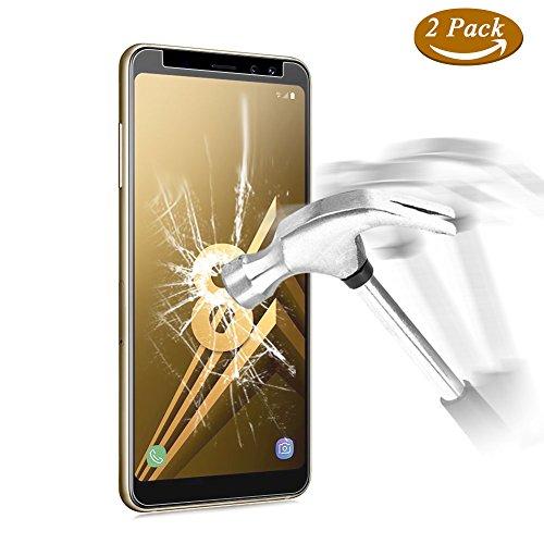 [2-Pack] Pellicola Samsung Galaxy A8 2018, ViViSun Protezioni Schermo 9H 2.5D Anti-impronte Anti-graffio Ultra-Clear Pellicola Protettiva Vetro Temperato Samsung A8 2018