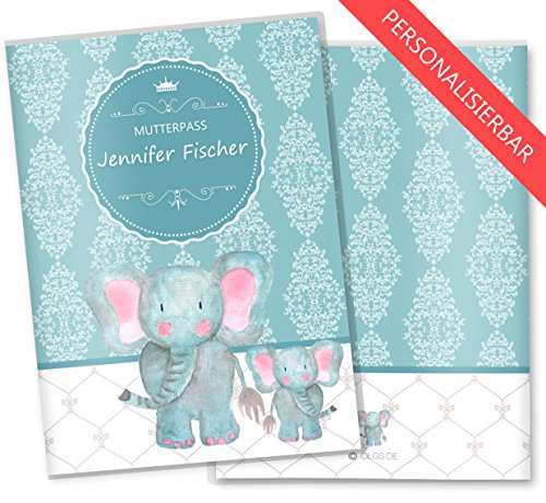 personalisierte Mutterpasshülle Elefant 3 teilig