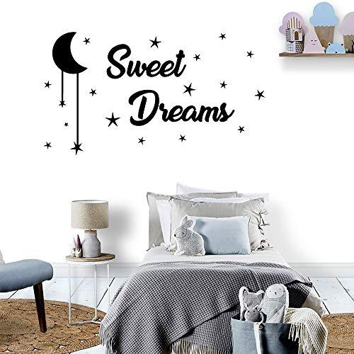sanzangtang Moderne Sweet Dream Star Wandaufkleber Vinyl Wasserdicht Für Kinder Baby Raumdekoration Aufkleber Dekoration 54x95 cm