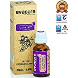 Evapure Grapeseed Oil for natural hair growth, Soft Skin & Sensual Massage, Certified 100% Pure (30ml) - ColdPressed