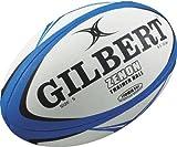 Gilbert Men's Zenon Rugby Training Ball - Blue/Black, Size 3