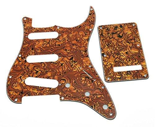 kaish Strat SSS Pickguard und St Backplate Tremolo, Tiger Stripe Strat Backplate