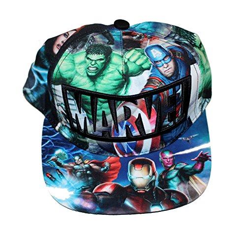 Marvel Baseball Premium Cap Kappe Schirmmütze (59, Avengers Gruppe)