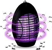 مصباح قاتل البعوض، قم بتوصيل وتشغيل صاعق الحشرات والبعوض الكهربائي غير السام بالاشعة فوق البنفسجية ليد (اسود)