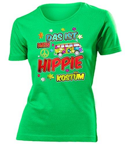 Golebros Hippie Kostüm Frauen Tshirt Karneval Fasching Motto Schlager Party Schlageroutfits Zubehör Paarkostüm Perücke Hut Handtasche Weste Sonnenbrille