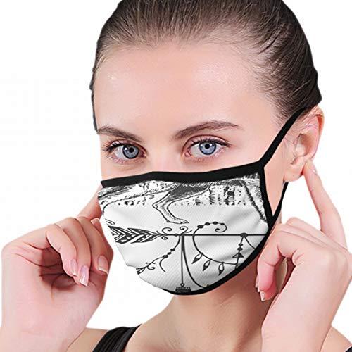 Tattoo Tshirt Print Design Wolf Atemschutzmaske Atmungsaktiv Verschmutzungsmasken Aktivkohlefilter N95 Antibakterielle Gesichtsschutzmaske - wiederverwendbar, wiederverwendbar, bequem