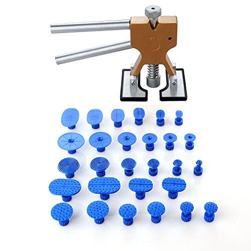 Pdr Tools Dellenzieher, Ausbeulwerkzeug, 18-teilig, Karosseriereparatur ohne Farbe, Hebewerkzeug, Klebe-Tabs, zum eigenständigen Beseitigen von Karosserieschäden (Kühlschrank-panel-kits)