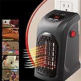 Vinteky Portátil, Seguro, Bajo consumo, 400W MINI Calefactor de pared Heater Eléctrica con LED digitales Estufa inteligente para el control de tiempo,temperatura,velocidad, multifuncional y manejable