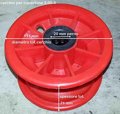 Cercle en plastique 3.00 - 4 avec roulement D.20