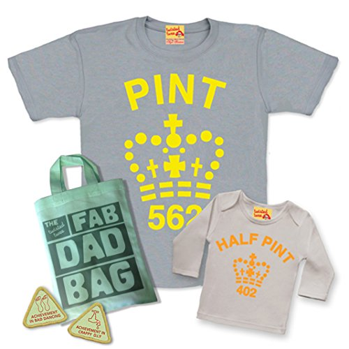 matching-pint-half-pint-t-shirt-set-for-father-son-or-daughter-grey-citrus-with-fab-dad-goody-bag-an