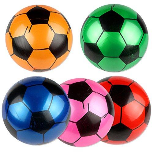 Mini Fußball EUZeo 9-Zoll-Urlaub Aufblasbarer Ball/Softball/Fußball Sport Bälle Spielzeug Pool Schwimmen Party Garten für Kinder-2018 Aufblasbares Wasserball Sale