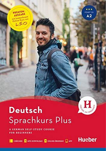 Hueber Sprachkurs Plus Deutsch A1/A2 – Premiumausgabe: A German Self-Study Course for Beginners / Buch mit Audios und Videos online, Begleitbuch, Online-Übungen und LEO-Onlinekurs