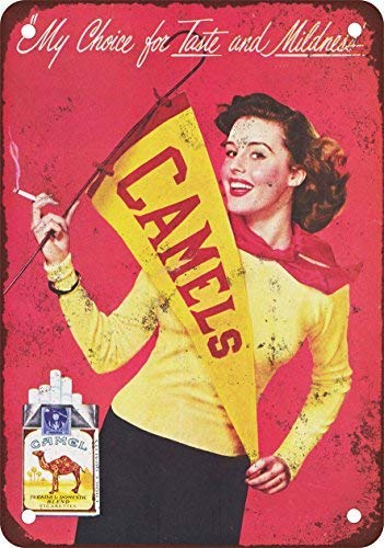 KellyPlaques Cheerleaders Camel sigarette vintage look Reproduction metal Signs 30,5 x 40,6 cm