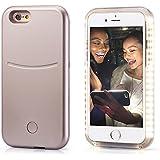 OKCS® Selfie LED Case Light Schutzhülle Foto Selfie Selbstporträit Beleuchtung Hardcover Licht für das iPhone 6 / 6s in Lovely Gold