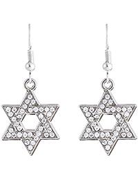 ee338a497fbd lemegeton Israle religiosos estrella de David de las mujeres pendientes de  gota para las mujeres las