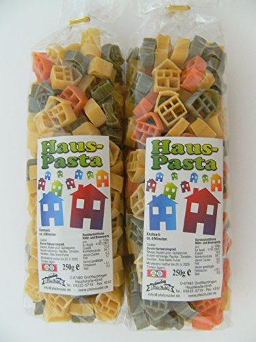 Pfalznudel Streuteile Häuser aus Nudelteig, 2X 250 g, Nudeln, Pasta, Dekoration, Delikatesse, Haus - Garten Pasta