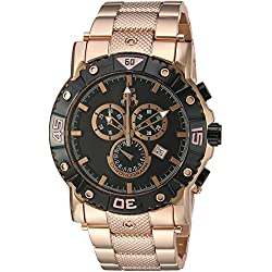 Jivago Men's 'Titan' Swiss Quartz Stainless Steel Casual Watch, Color:Rose Gold-Toned (Model: JV9123XL)