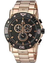 Jivago Men's 'Titan' Swiss Quartz Stainless Steel Casual Watch, Color:Rose Gold-Toned (Model: JV9123XL)