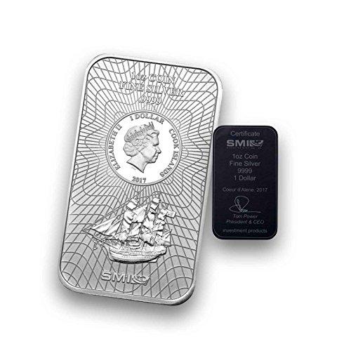 1 Unze Silberbarren Münzbarren COOK ISLAND - prägefrisch mit Zertifikat (1 Unze)