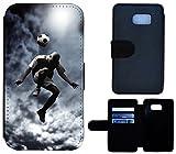 Flip Cover Schutz Hülle Handy Tasche Etui Case für (Samsung Galaxy S7 G930F, 1511 Fussball Fussballer Trick Fußball)