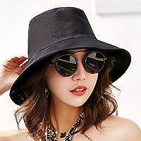 LTQ&qing Sombrero hombres y mujeres sombrero de sol color s¨®lido sol protector solar , B , m (56-58cm)