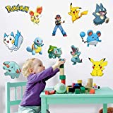 Sticker Studio Pokemon Wall Sticker & Decal (PVC Vinyl,Surface Covering Area - 76 X 58 Cm)