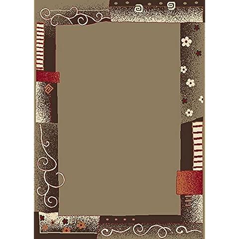 Sona-Lux-Tappeto moderno tessuto color caramello Dimensioni: 63 x 110 cm